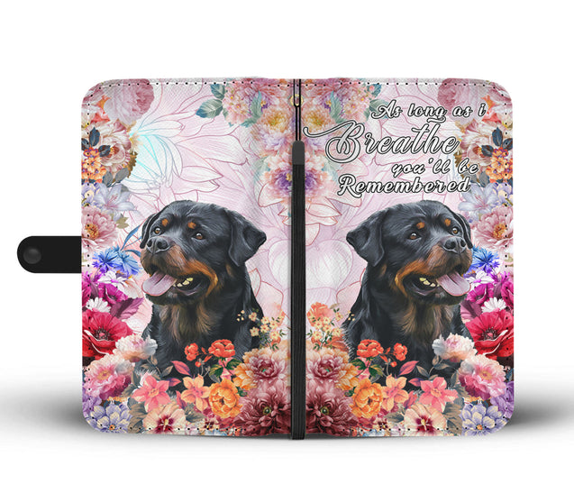nh 6 rottweiler remembered wallet case
