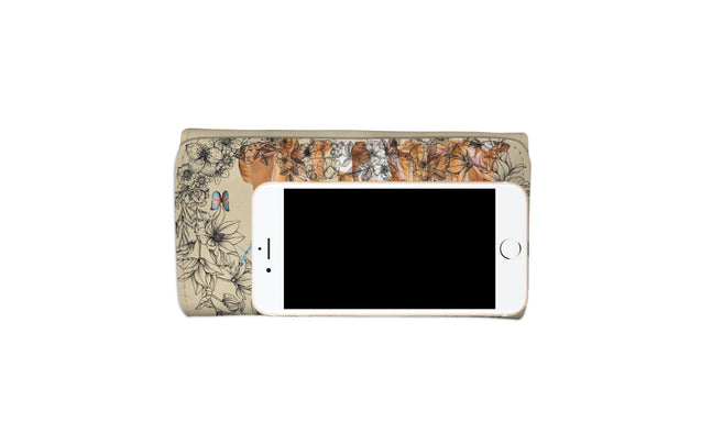 nh 6 boxer flowers womens wallet