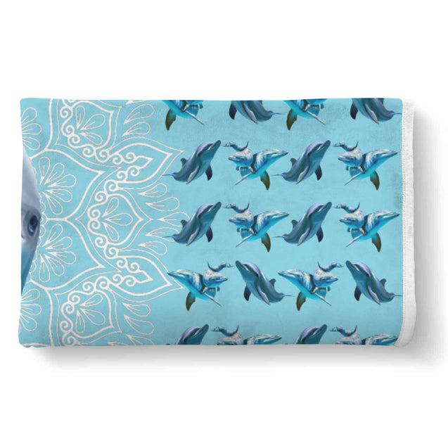 TD Dolphin Is My Spirit Animal Blanket