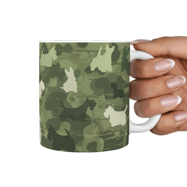 TD Scottish Terrier Camo 360 Mug