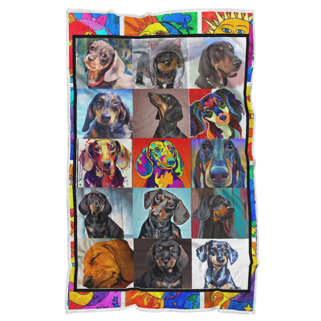 nh 6 dachshund color blanket