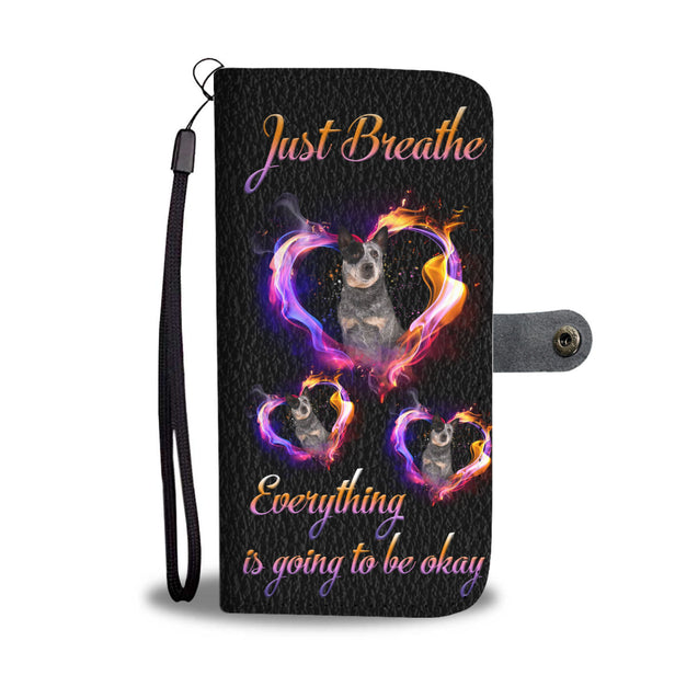 ln heeler just breathe wallet case