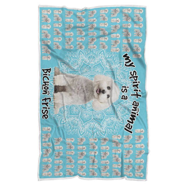 TD Bichon Frise Is My Spirit Animal Blanket