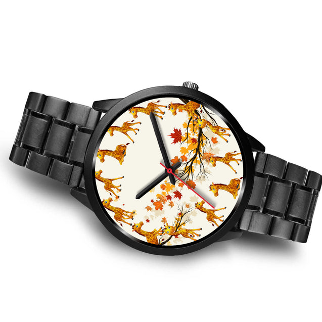 nh giraffe maple leaves watch