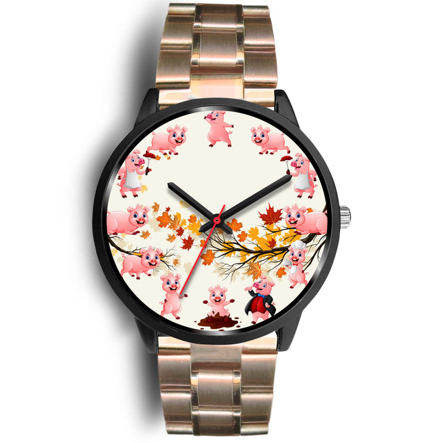 nh pig maple leaves watch