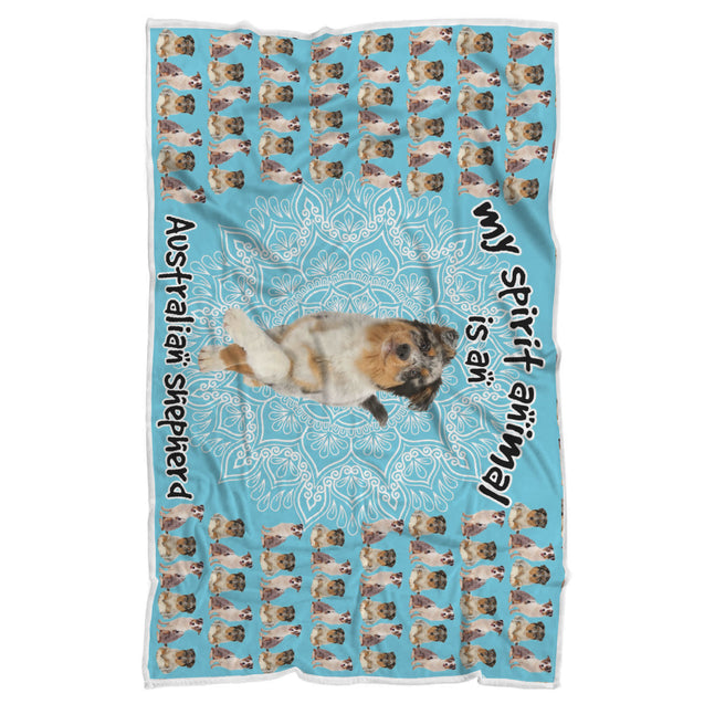 TD Australian Shepherd Is My Spirit Animal Blanket