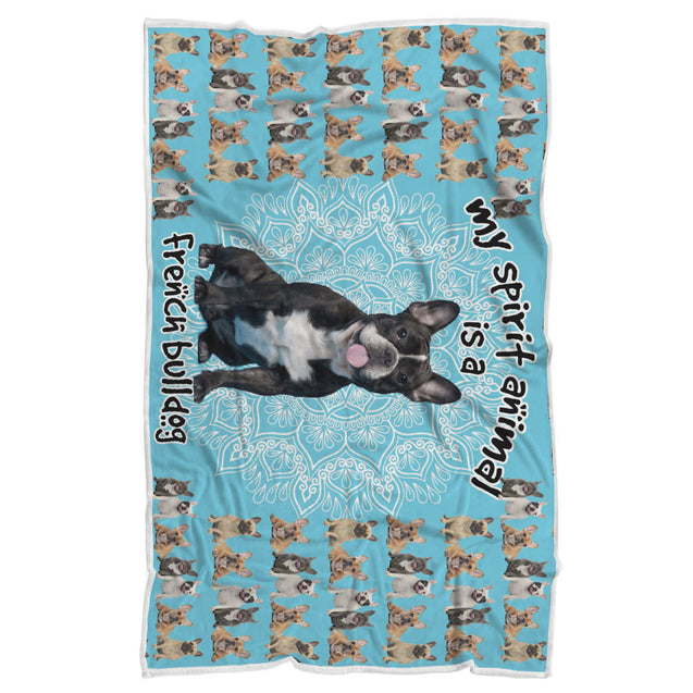 TD French BullDog Is My Spirit Animal Blanket