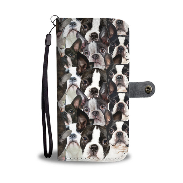 nh 6 boston terrier wallet case