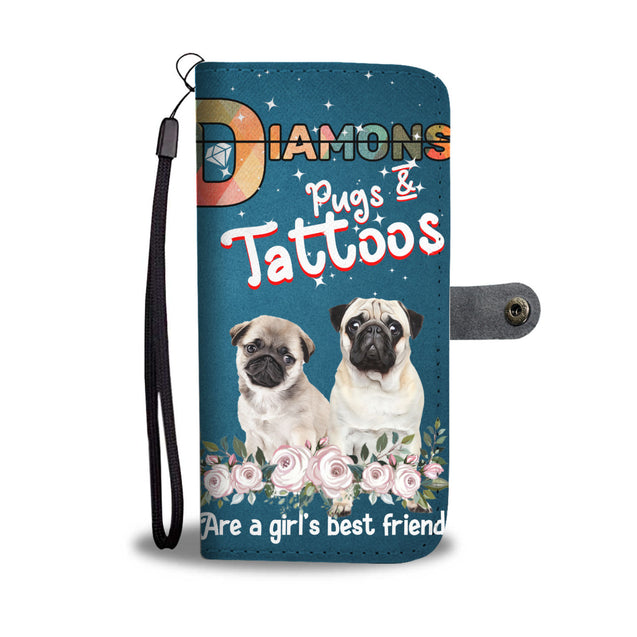 nh 6 pug diamond wallet case