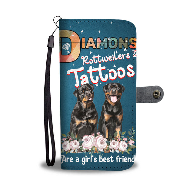nh 6 rottweiler diamond wallet case