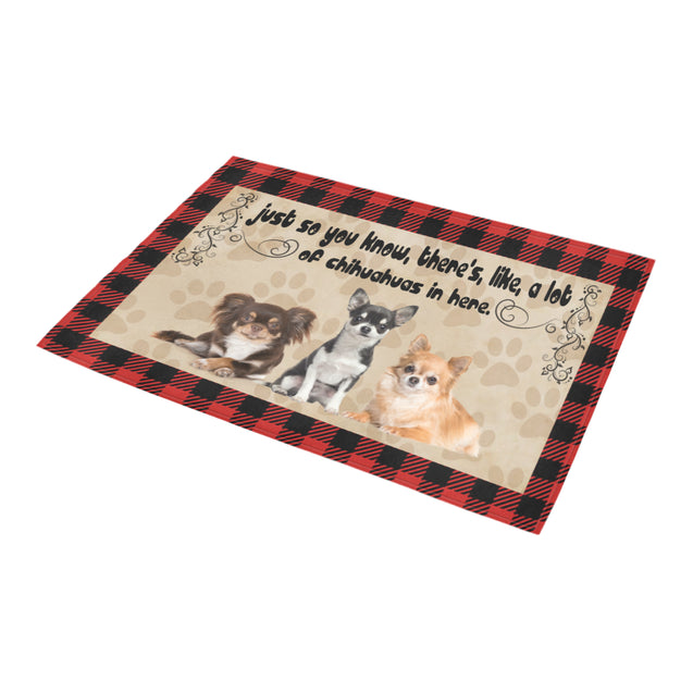 TD 9 A Lot Of Chihuahuas Doormat Doormat