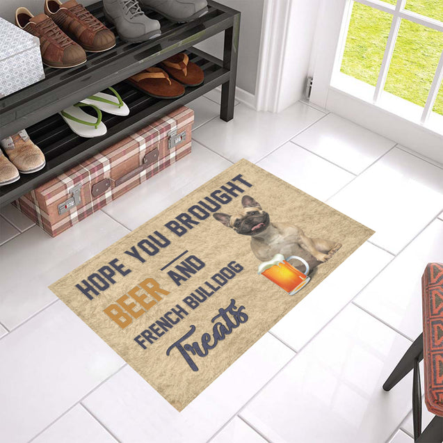 Nh 1 French Bulldog Beer Doormat