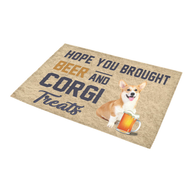 Nh 1 Corgi Beer Doormat