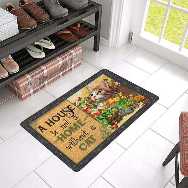 ln 5 cat a house is not a home doormat door mats