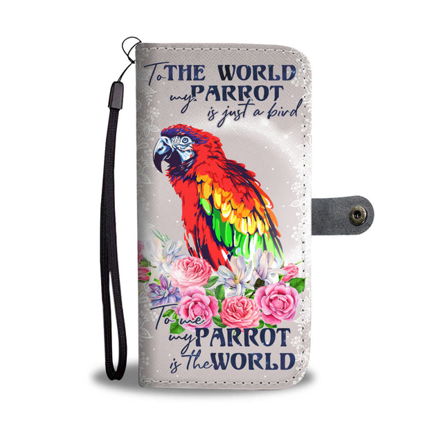 TD Parrot Is The World Wallet Case