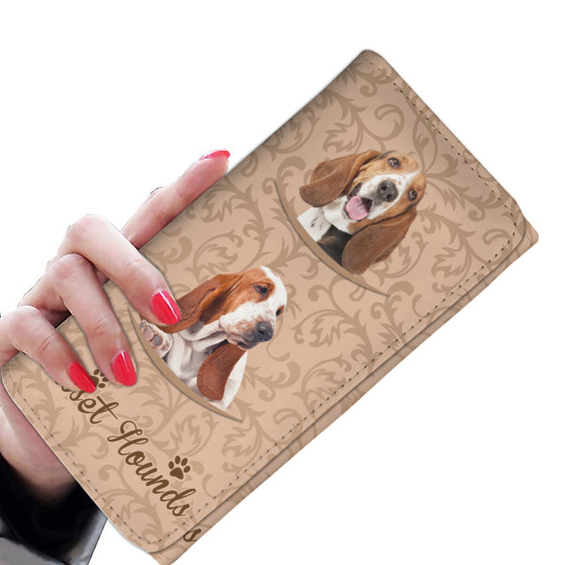 TD Basset Hounds Pattern Womens Wallet