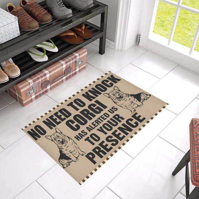 ln corgi knock doormat