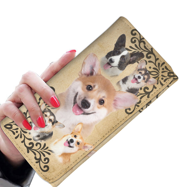 ln 1 corgi smile women wallet