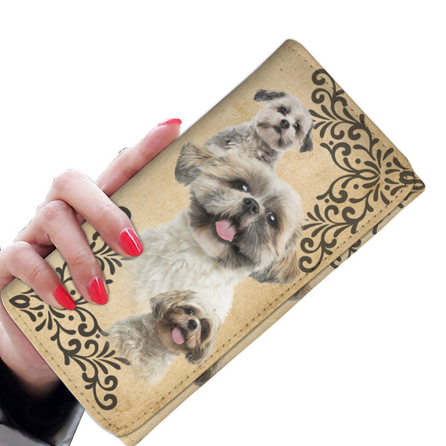 ln 1 shih tzu smile women wallet