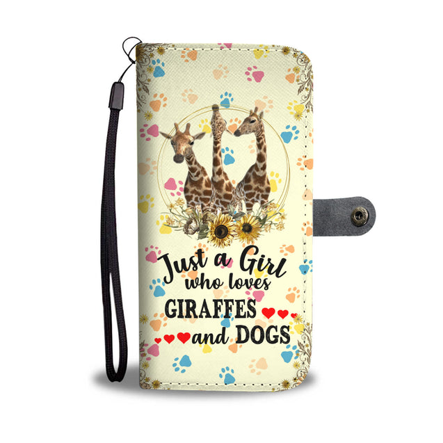 nh giraffe and dog wallet case