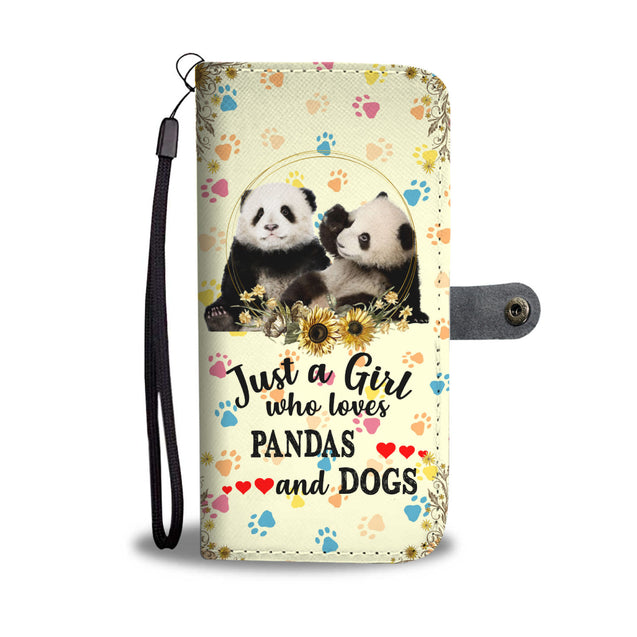 nh panda and dog wallet case