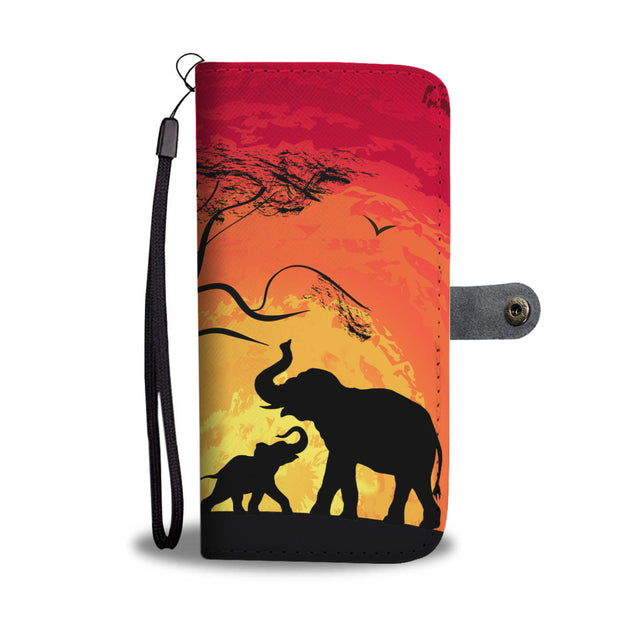 nh 5 elephant sunset wallet case