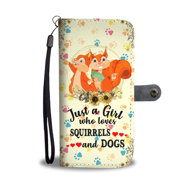nh squirrel and dog wallet case