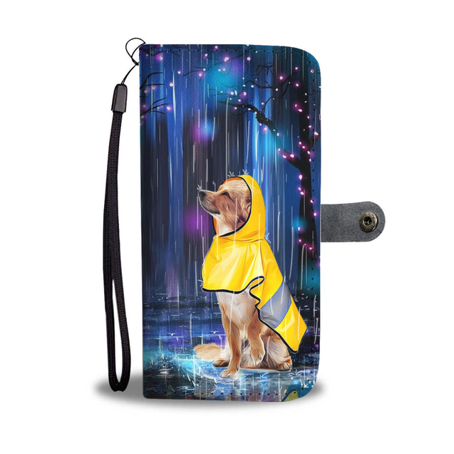 TD 2 Chihuahua Watching The Rain Wallet Case