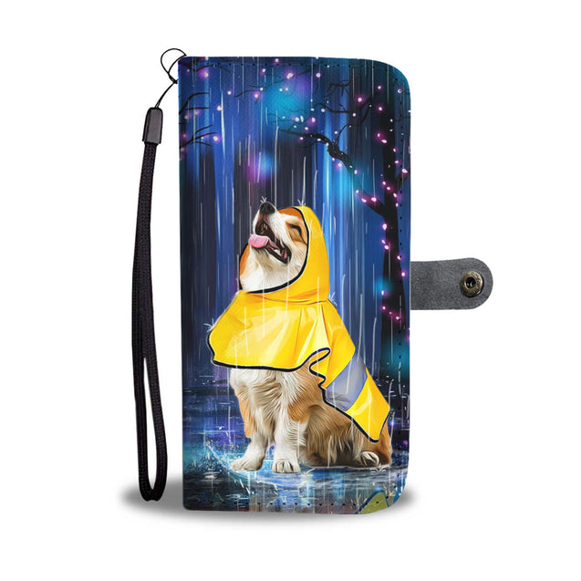 TD 2 Corgi Watching The Rain Wallet Case