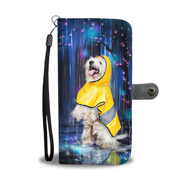 TD 2 Westie Watching The Rain Wallet Case