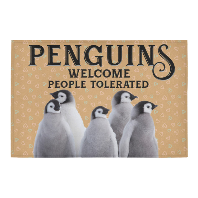 Nh 1 Penguin Welcome doormats