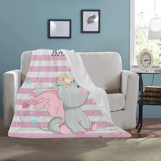 VT-elephant cute Blanket