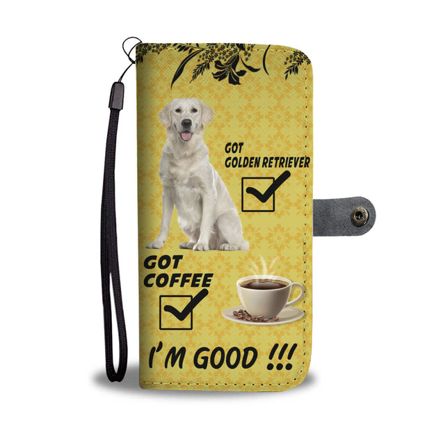Ta 9 Golden Retriever and coffee