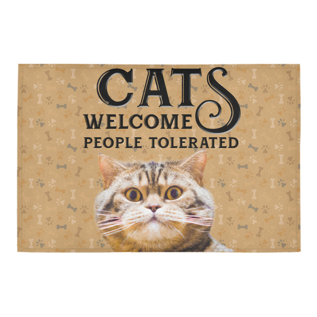 Nh 1 Cat Welcome doormats