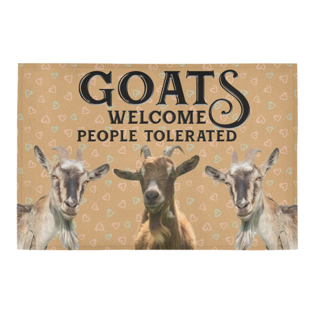 Nh 1 Goat Welcome doormats