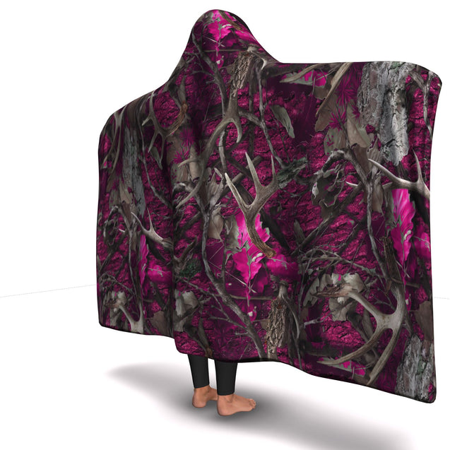 Hooded Blanket  Pink Hunting