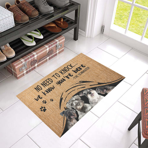 ll 1 schnauzer we know doormat