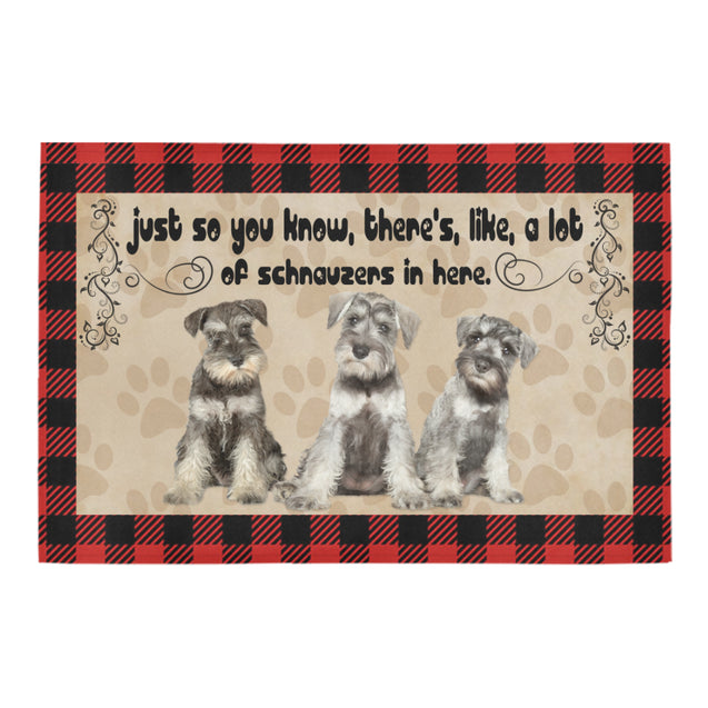 TD 9 A Lot Of Schnauzers Doormat Doormat