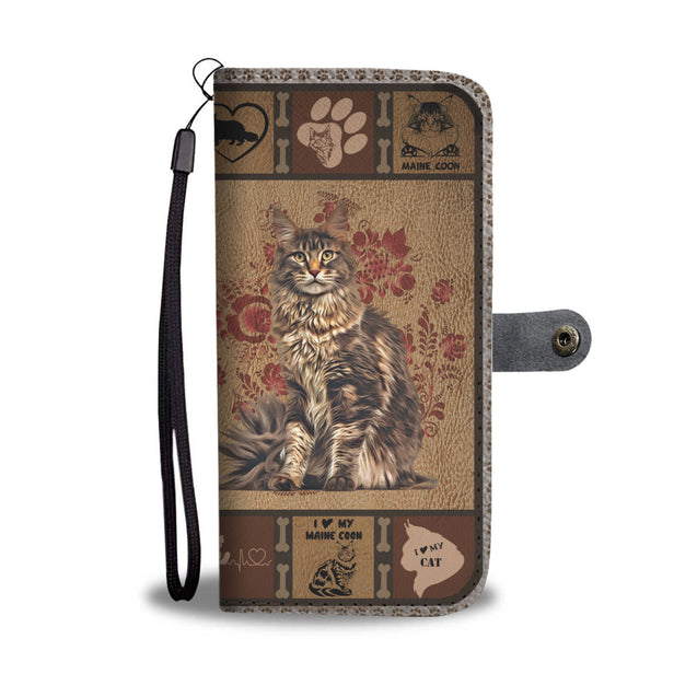 TH 5 Maine Coon Will Be There Phone Wallet Case (Ver 2)