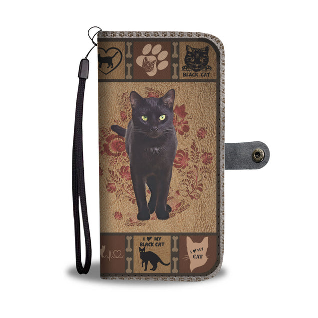 TH 5 Black Cat Will Be There Phone Wallet Case (Ver 2)
