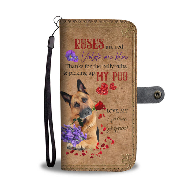 Mt 5 Roses Are Red Violet Are Blue German Shepherd Wallet Case Phone Case