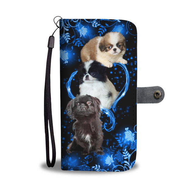 SHN 10 Blue heart twinkle Japanese Chin Wallet case