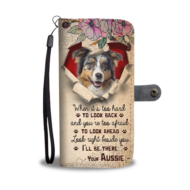 TH 2 Australian Shepherd Will Be There Wallet Case