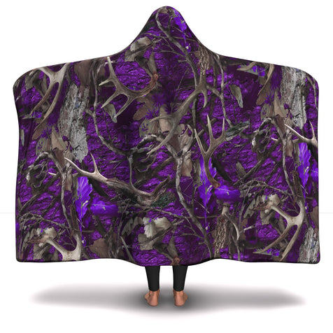 Hooded Blanket  Purple Hunting