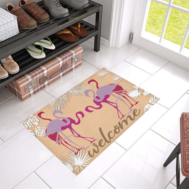 LN 2 flamingo welcome doormat