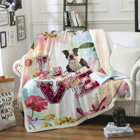 TD 5 Boston Terrier Love Blanket