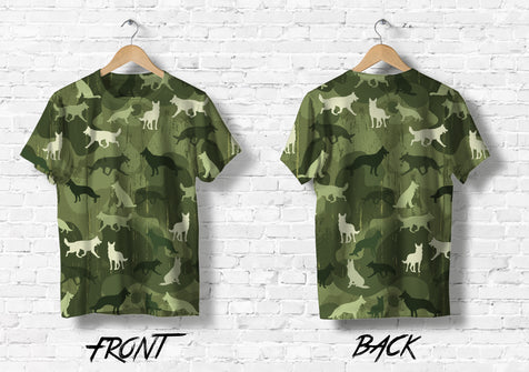 TD 5 German Shepherd Army Tshirt