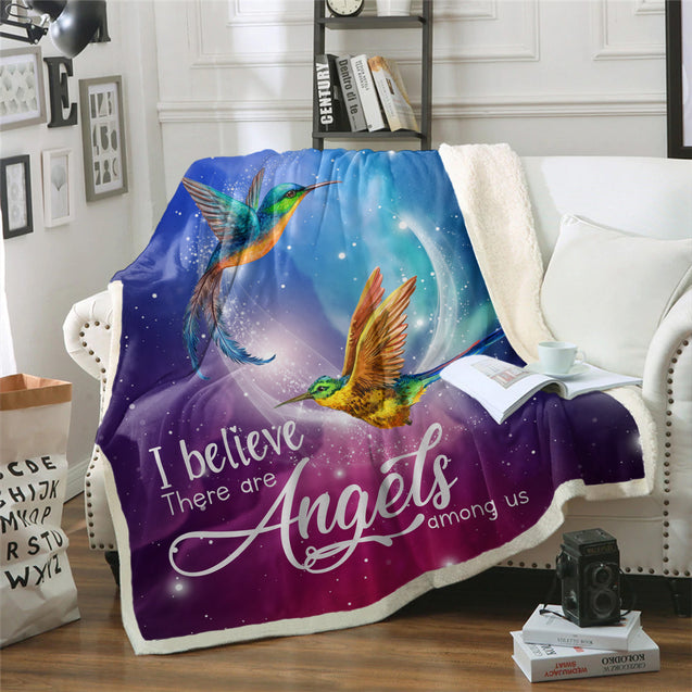 TD HummingBirds Are Angels Among Us Blanket