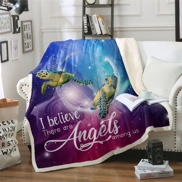 TD Turtles Are Angels Among Us Blanket