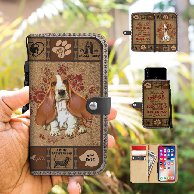 TH 5 Basset Hound Will Be There Phone Wallet Case (Ver 2)